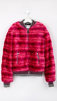 Розовая детская куртка Elsy с искусственным мехом, фото
