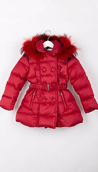 Красное пальто Elsy для девочки, фото