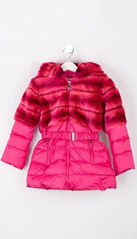 Пальто детское Elsy розового цвета, фото