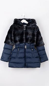 Детское пальто Elsy синего цвета, фото