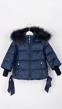 Синяя детская куртка Elsy с капюшоном, фото
