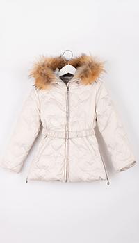 Куртка для девочки Elsy бежевого цвета, фото