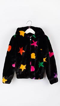 Детская черная куртка Elsy в звезды, фото