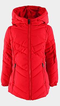 Красная куртка Ea7 Emporio Armani для девочек, фото