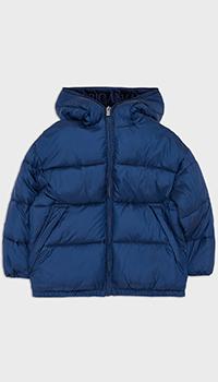 Детская куртка Emporio Armani синего цвета, фото