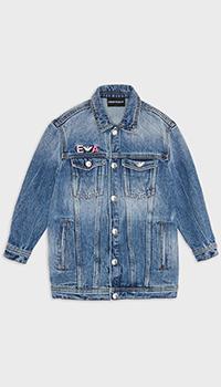 Джинсовая куртка Emporio Armani для девочек, фото