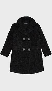 Детское пальто Emporio Armani черного цвета, фото