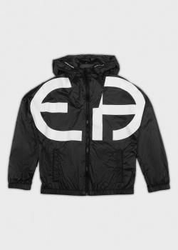 Черная куртка EA7 Emporio Armani для детей, фото