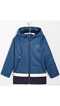 Синяя куртка с лого Jacadi для мальчиков, фото