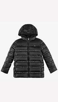 Детская куртка Philipp Plein черного цвета, фото