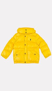 Детская куртка Polo Ralph Lauren желтого цвета, фото