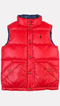 Сине-красный жилет Polo Ralph Lauren для мальчиков, фото