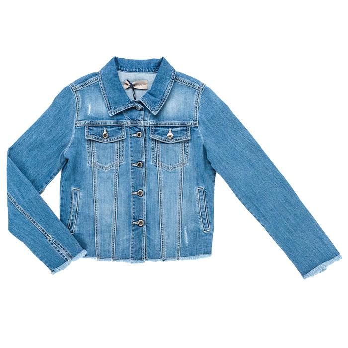 Джинсовая куртка Ermanno Scervino голубого цвета