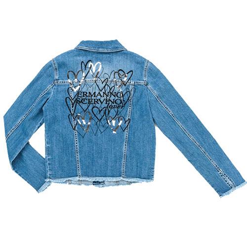 Джинсовая куртка Ermanno Scervino голубого цвета, фото