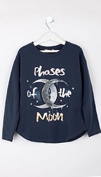 Синий свитшот Elsy с луной для девочки, фото