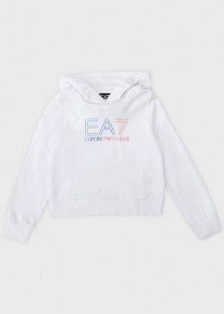 Худи для детей EA7 Emporio Armani с логотипом, фото