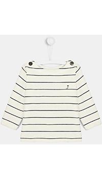 Белый полосатый свитшот Jacadi для детей, фото