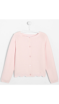 Кардиган для девочек Jacadi в бледно-розовом цвете, фото