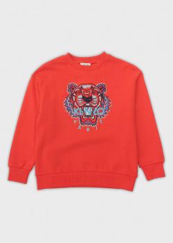 Красный свитшот Kenzo для детей, фото