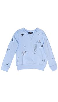 Голубой джемпер Polo Ralph Lauren с рисунками, фото