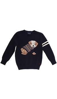 Вязаный джемпер Polo Ralph Lauren с изображением щенка, фото