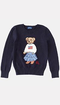 Синий джемпер Polo Ralph Lauren для девочек, фото