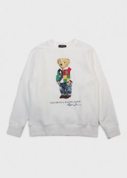 Детский свитшот Polo Ralph Lauren с брендовым медведем, фото
