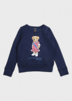 Синий свитшот Polo Ralph Lauren для девочек, фото