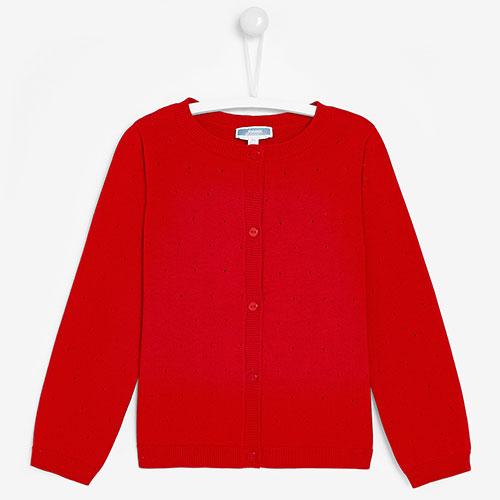 Красный кардиган Jacadi для девочек, фото