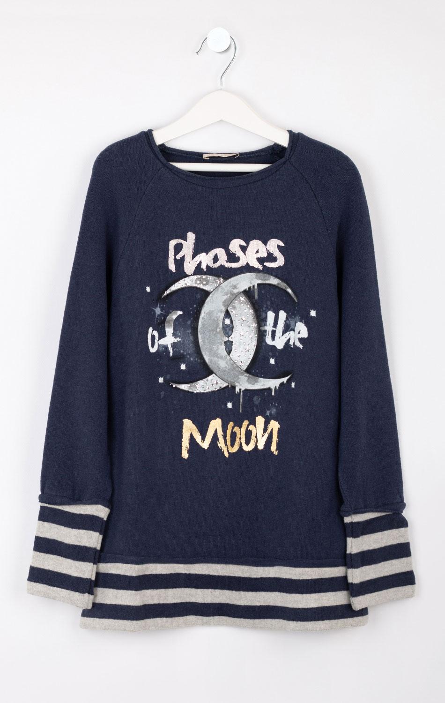 Синий детский свитшот Elsy с луной