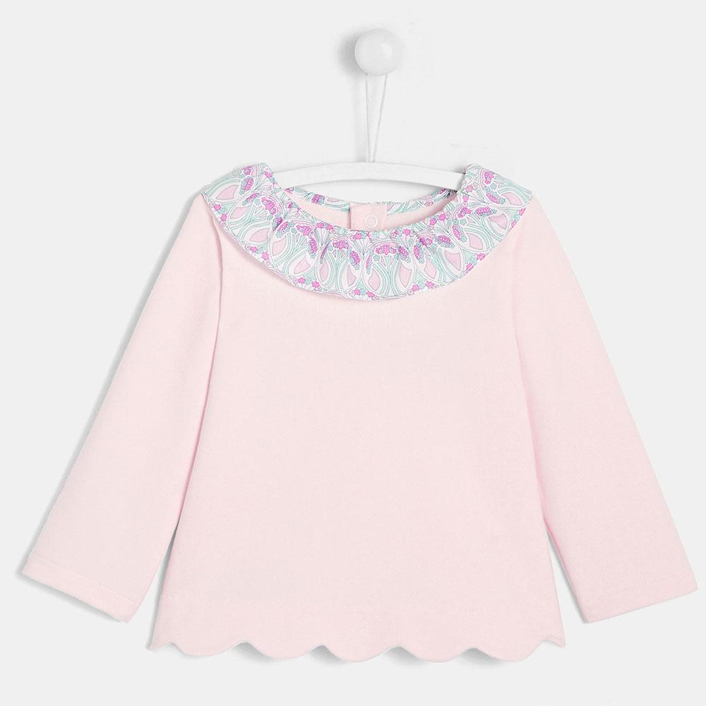 Розовый джемпер с воротником Jacadi для детей