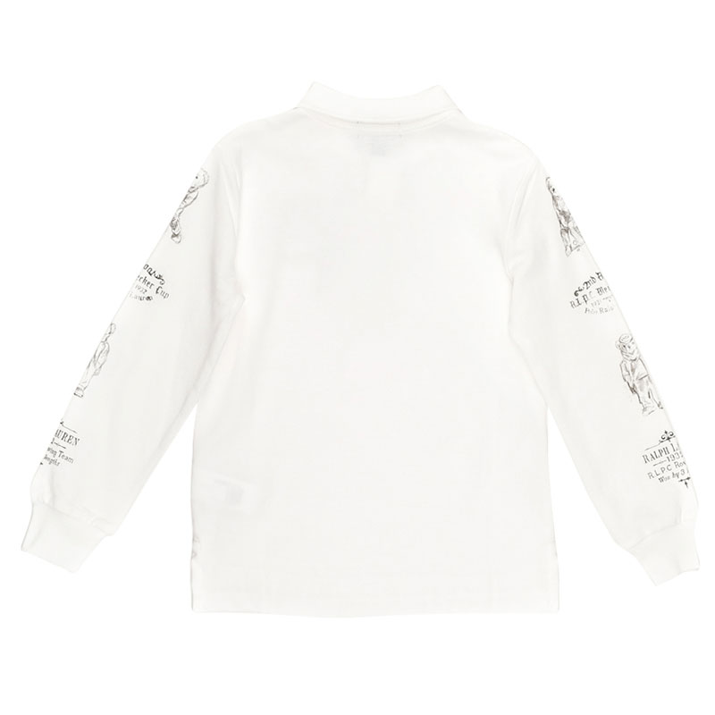 Белое поло Polo Ralph Lauren с длинным рукавом