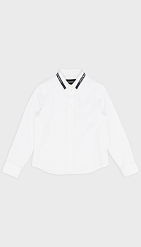 Детская рубашка Emporio Armani белого цвета, фото