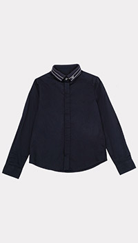 Детская рубашка Emporio Armani с брендовым воротником, фото