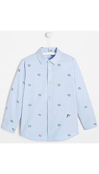 Рубашка для мальчиков Jacadi голубого цвета, фото