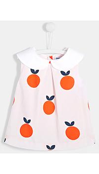 Детская блуза Jacadi с контрастным воротником, фото