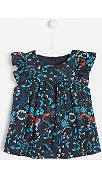 Блуза для девочек Jacadi с флористическим принтом, фото