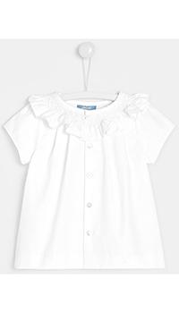 Белая блуза для девочек Jacadi на пуговицах, фото