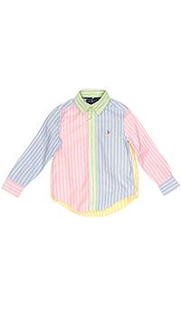 Разноцветная рубашка Polo Ralph Lauren в полоску, фото