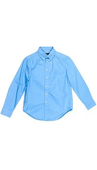 Яркая голубая рубашка Polo Ralph Lauren детская, фото