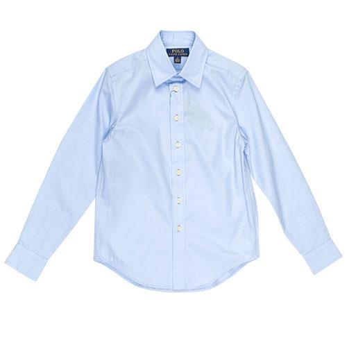 Классическая рубашка Polo Ralph Lauren голубого цвета, фото
