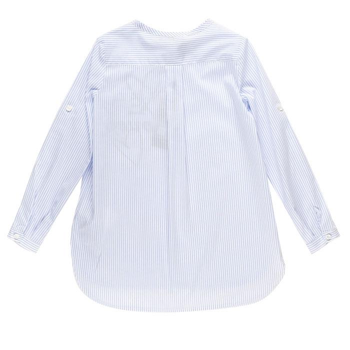 Голубая рубашка Ermanno Scervino в полоску с принтом