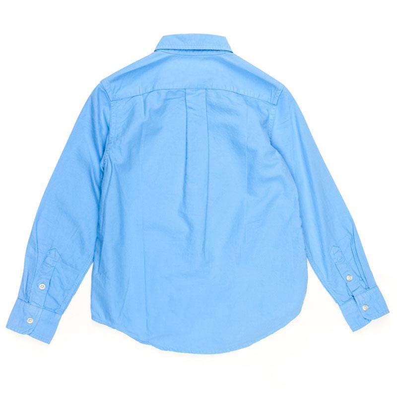 Яркая голубая рубашка Polo Ralph Lauren детская