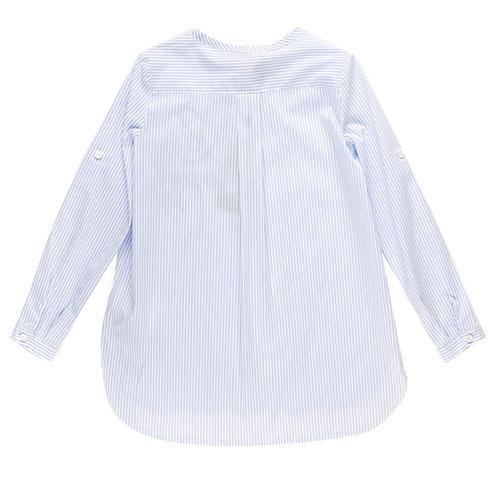Голубая рубашка Ermanno Scervino в полоску с принтом, фото