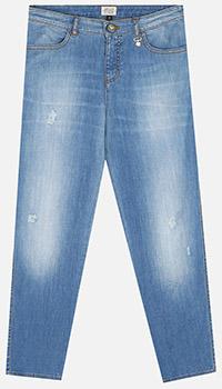 Голубые джинсы Emporio Armani для девочек, фото