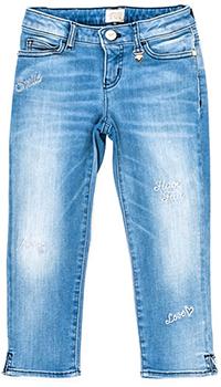 Джинсы Emporio Armani с вышивкой-надписями, фото