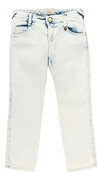Детские джинсы Emporio Armani светло-голубого цвета, фото