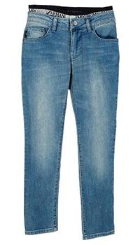 Детские джинсы Emporio Armani на резинке синего цвета, фото