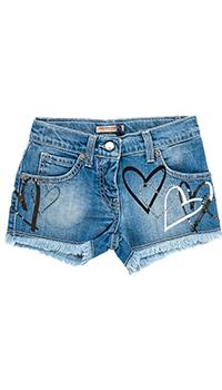 Шорты джинсовые Ermanno Scervino с принтом-сердцами, фото