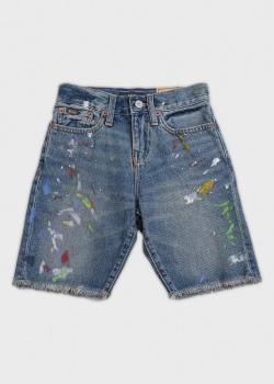 Детские джинсовые шорты Polo Ralph Lauren с брызгами краски, фото